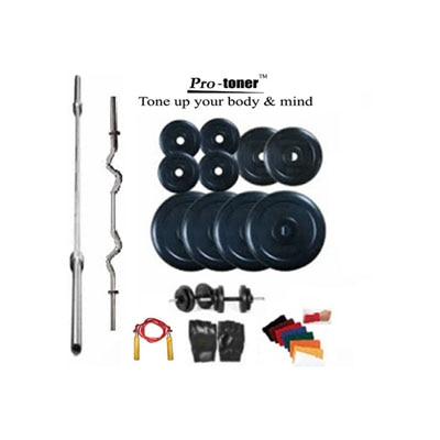Protoner Home Gym 40 Kg + Rods Gloves Rope And Locks