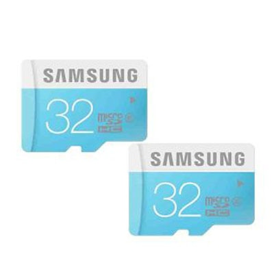 Samsung Micro SD Card 32 GB Class 6 Memory Card (Pack Of 2)