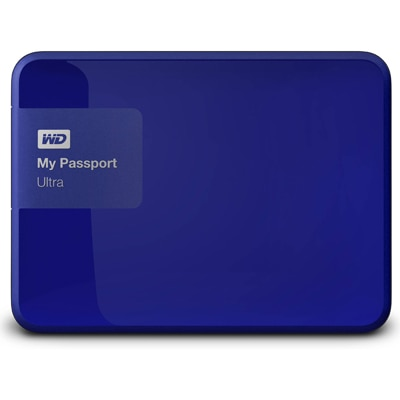WD My Passport Ultra (WDBBKD0020BBL-EESN) 2 TB Poratble External Hard Drive (Blue)
