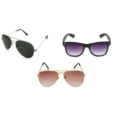 Rico Sordi Multicolor Set of 3 sunglasses combo(RSD858)