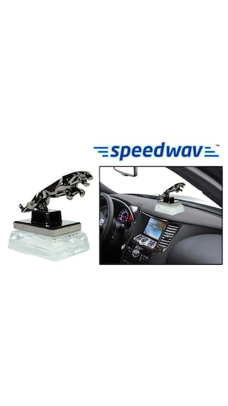 Speedwav Classy Jaguar Refillable Car Perfume - Transparent White