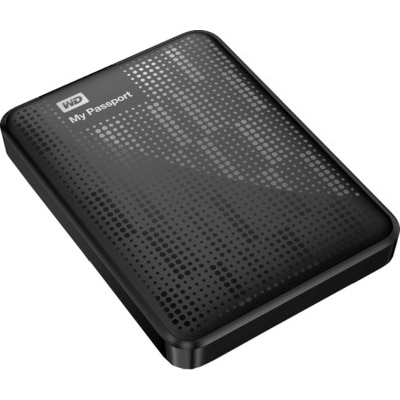 WD My Passport 1 TB External Hard Drive (WDBBEP0010BBK) (Black)