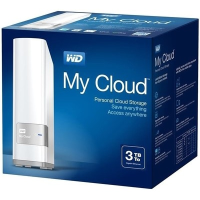 WD My Cloud (WDBCTL0030HWT) 3 TB Network External Hard Drive (White)