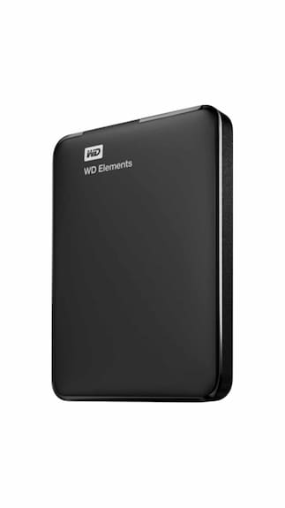 WD Elements 1 TB Portable External Hard Drive (Black)