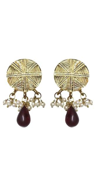 Kshitij Traditional Gold Plated Studd Earrings