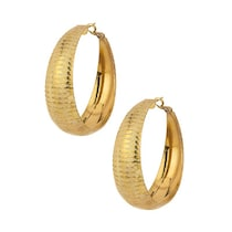 Voylla Gold Plated Hoop Earrings With Interesting Design