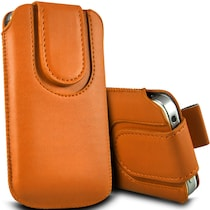Wow Pouch For Micromax Canvas Ego A113 (Orange)