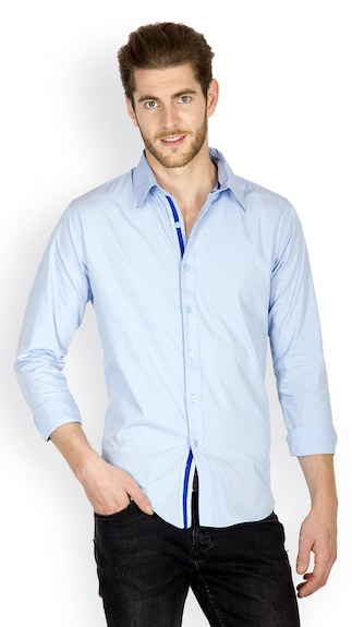 Incynk Men Sky Smart Fit Casual Shirt (Size-XL)