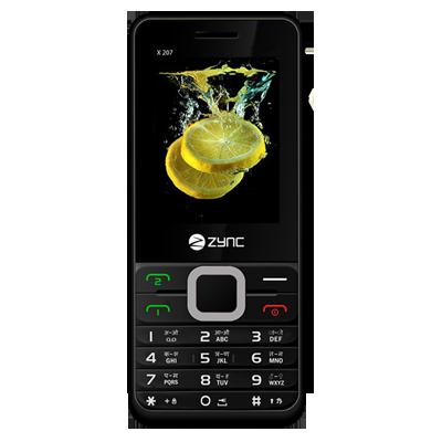 Zync X207 Dual SIM Mobile (Black)