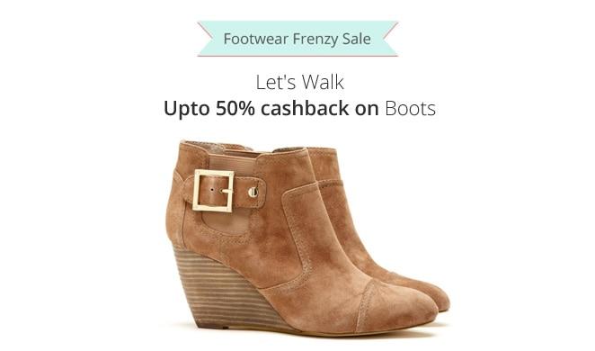 Boots Upto 50% Cashback