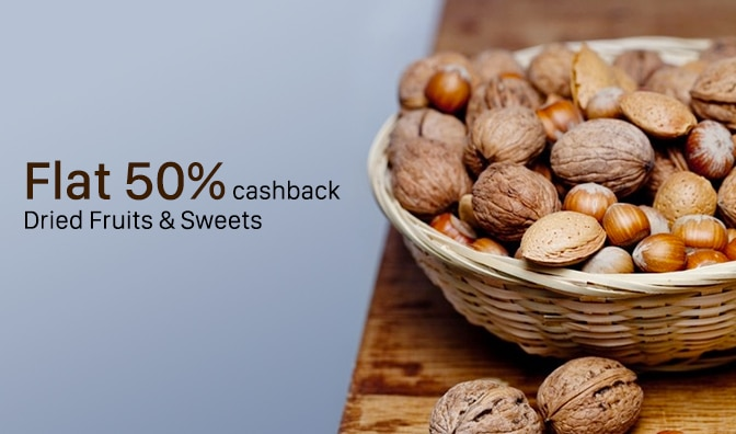 Dry Fruits - Flat 40% Cashback