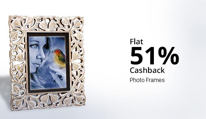 Photo Frame 30% - 40% Cashback