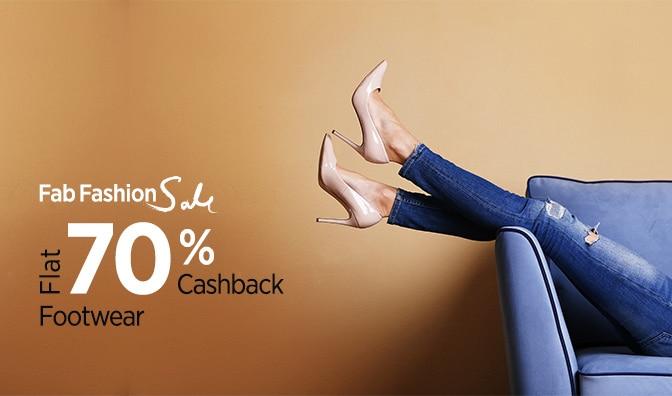 Women's Footwear || Flat 70% Cashback
