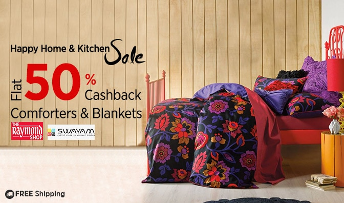 Blankets & Quilts | Flat 50% Cashback