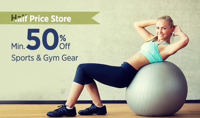Min 50% Off on Sports & Fitness + Additional Cash Back @ Paytm – Fitness /  Gym