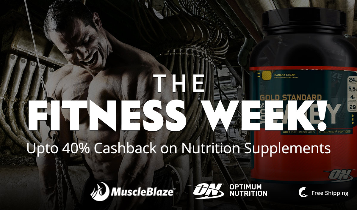 Muscle Building Supplements - Upto 40% CB