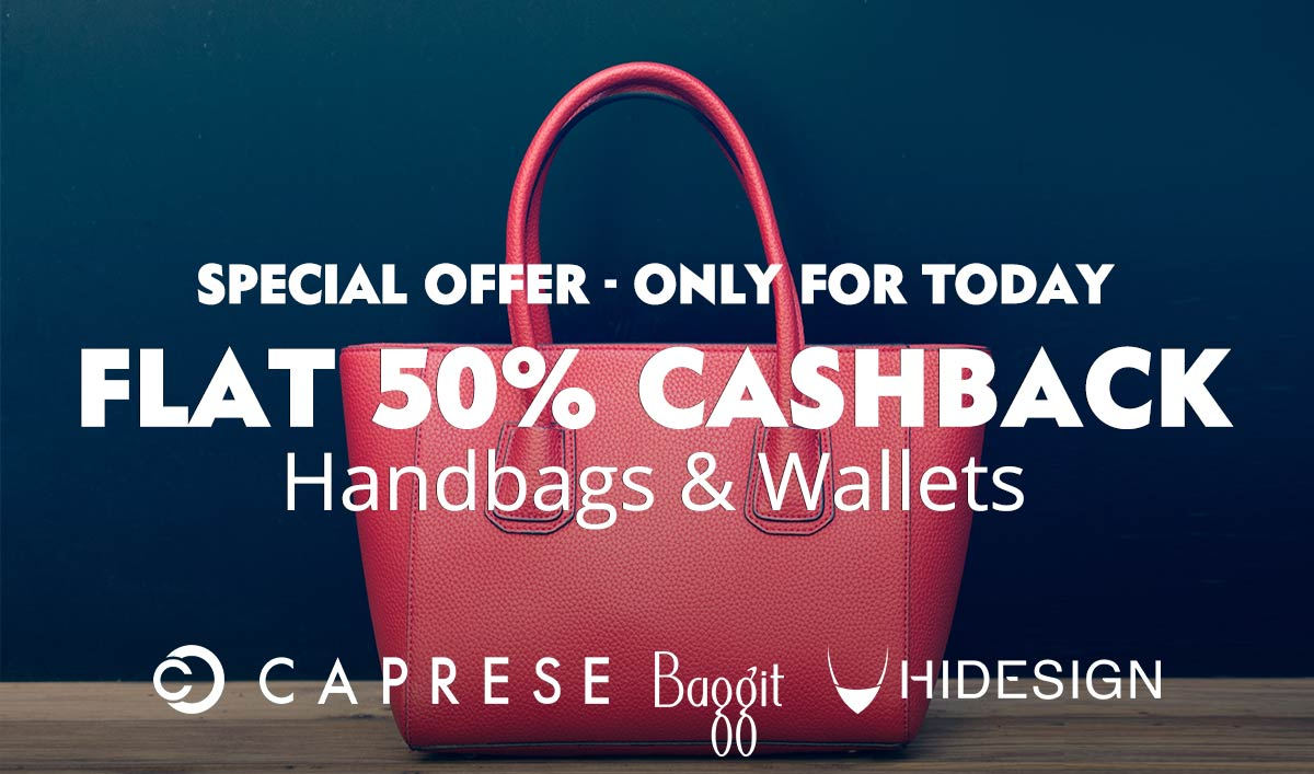 Handbags & Wallet: Flat 50% Cashback
