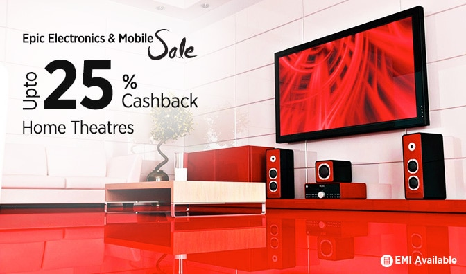 Home Theaters | Flat 18% Cashback