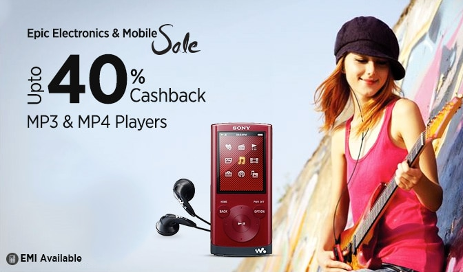 MP3 and MP4 Players | Flat 18% Cashback