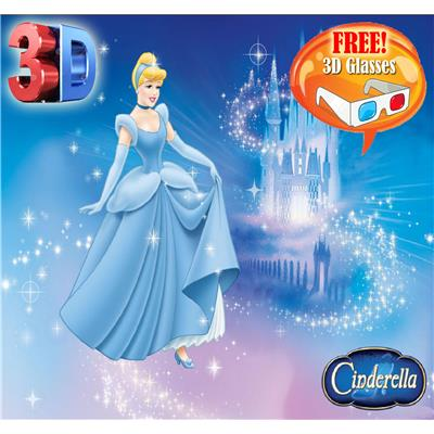 Cinderella 3D Book With 3D Glasses