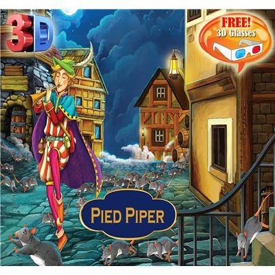 Pied Piper 3D Book With 3D Glasses