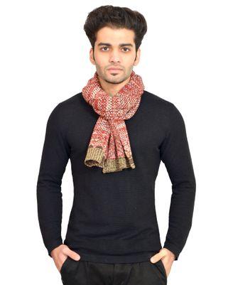 513 Knitted Self Design Men's Muffler