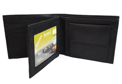 Adamstone Mens Formal Pure Leather Black Wallet