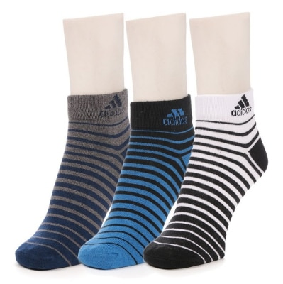 Adidas Coloured Ankle Socks _Pack of 3