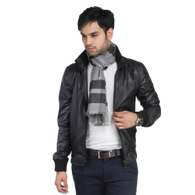 Alvaro Castagnino Black And Grey Muffler