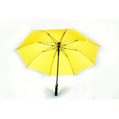 Anchor Branded Automatic Large Yellow Golf Umbrella With Softgrip And Fibre Body