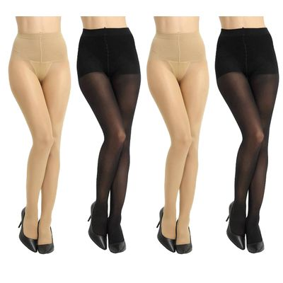Ansh Fashion Wear Women's Stocking Pack Of 4