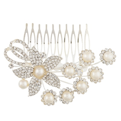 Dazzle Collections White Hair Clip