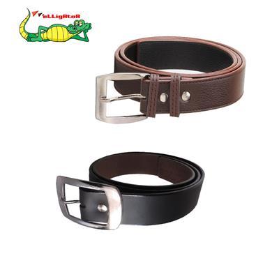 Elligator Black And Brown Combo Of 2 Belts