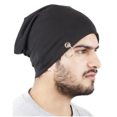 Elligator Black Beanie Cap