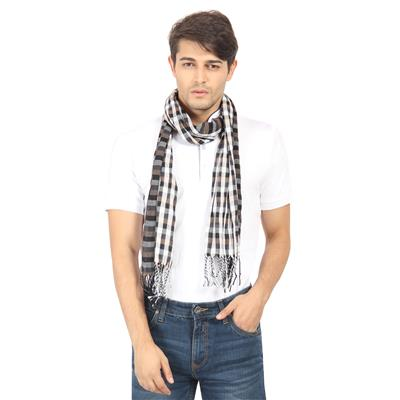 FabSeasons Black Stripes Scarf, Scarves, Stole and Shawl for Men