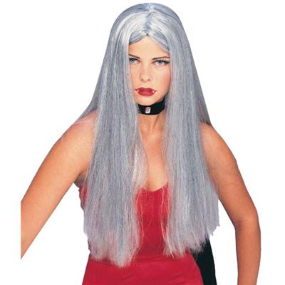 Forum Novelties Women's Gothic Glamour Long Costume Wig Gray One Size