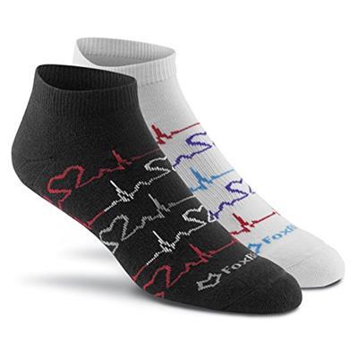 Fox River Women's Stylish EKG Lightweight Low-Cut Ankle Socks Medium White/Black Assortment