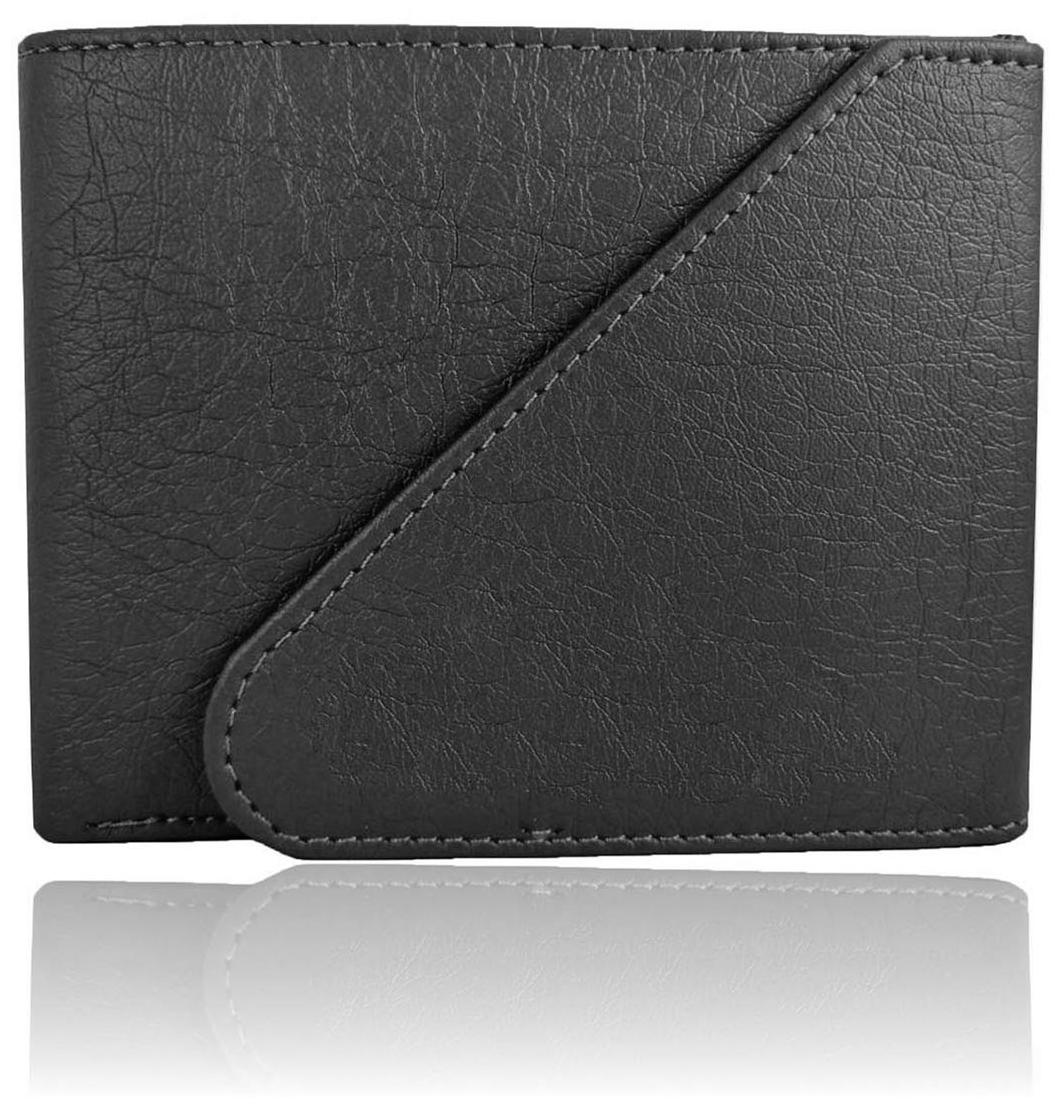 Genuine Leather Wallet For Men, Black, Tri-Fold, Hand Made, Long Lasting Quality, (Model-MW/TF/BL-0003)
