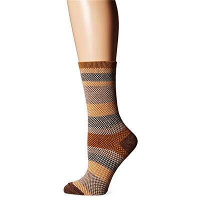 Goodhew Women's Mixology Crew Socks Ochre Medium/Large
