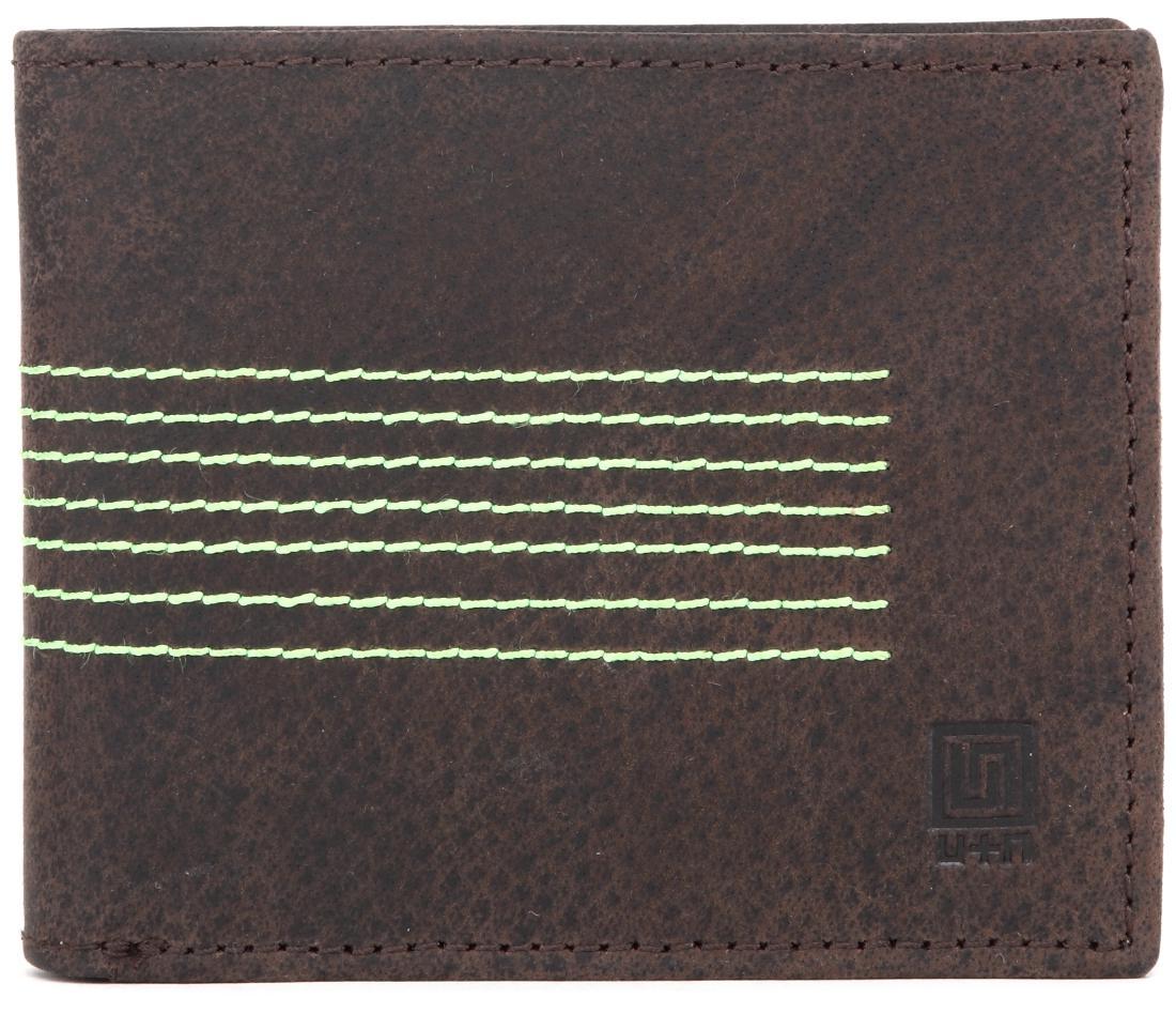 U+N Men Leather Bi-fold - Brown