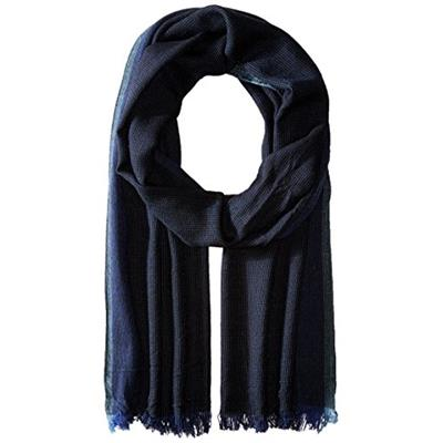 John Varvatos Star U.S.A Men's End On End Scarf Black/Capri/Pacific Blue One Size