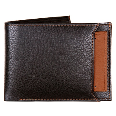 K London Black & Brown Leatherite Men's Wallet