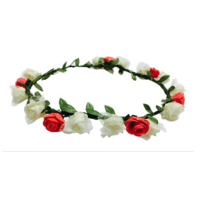 Loops N Knots Valentine'S Day & Christmas Floral Tiara/ Crown