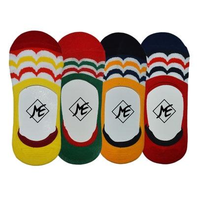 ME Stores MultiColor Loafer Socks Pack Of 4