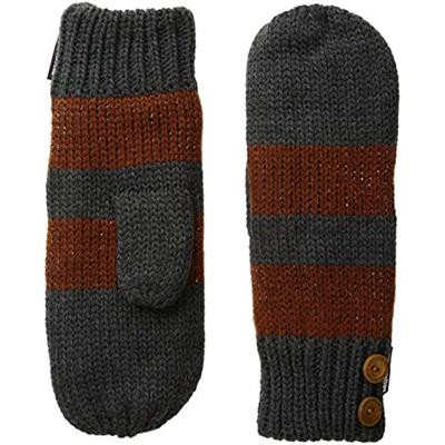 Muk Luks Women's Pennies From Heaven Mittens-Metallic Stripe Pewter One Size