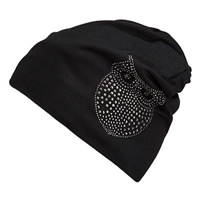 Nine City Owl Black Skull Cap Beanie That Will Fit Your Head Perfect (Owl)