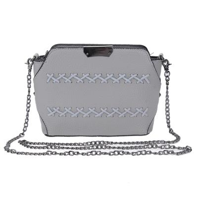 PU Leather Satchel Shoulder Tote Messenger Crossbody Bag (gray)(Rope)