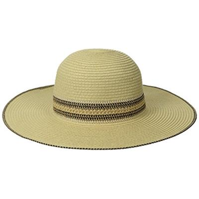 RAMPAGE Women's Multi-Weave Band Sun Hat, Natural, One Size