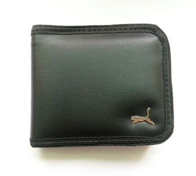 Regular PU Leather wallet for men (Black)
