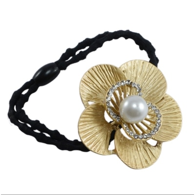 Saamarth Impex Golden Color Design Rubber Band Hair Accessories SI-3870